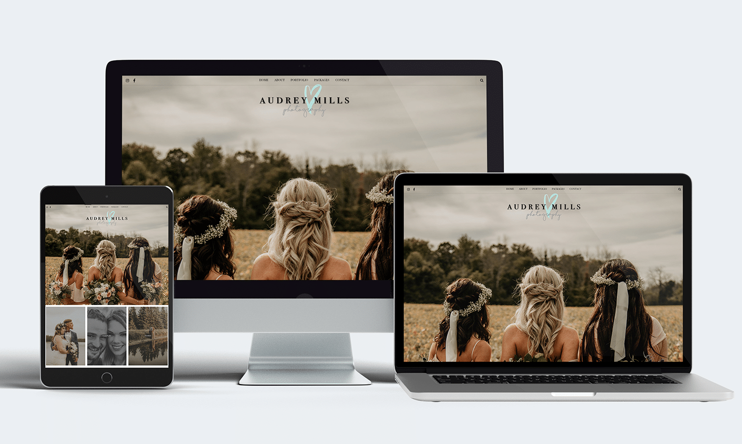 Audrey Mills Photography Mobile Responsive Web Design