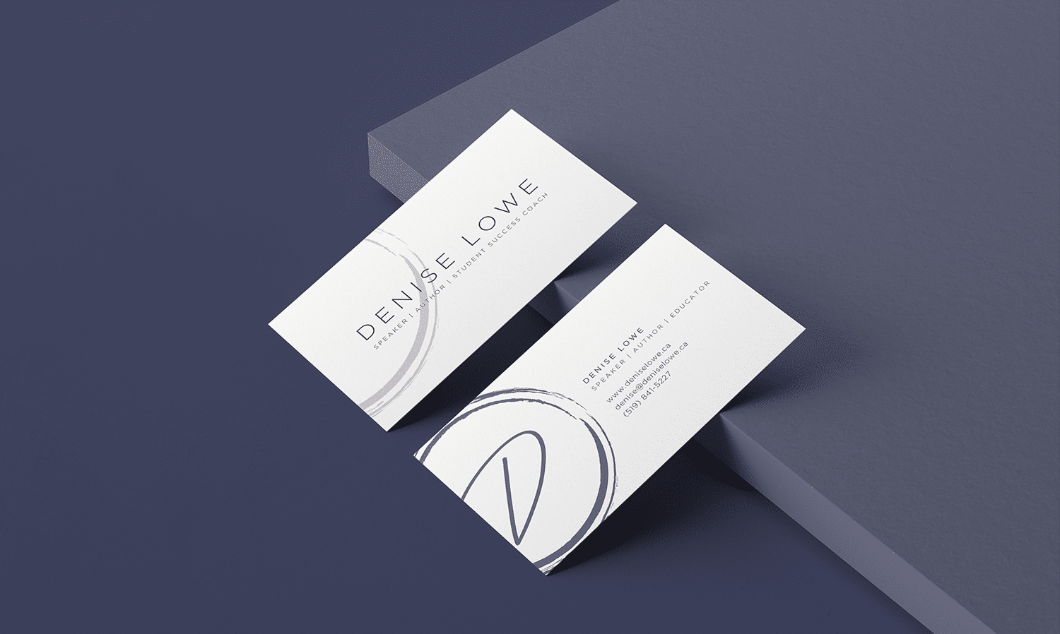 Denise Lowe Logo and Business Card Design