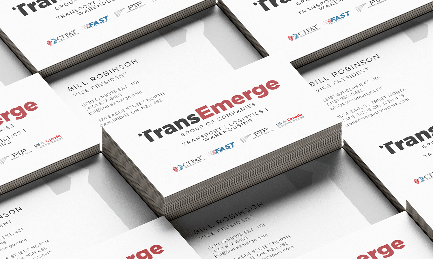 Trans Emerge Business Card Design
